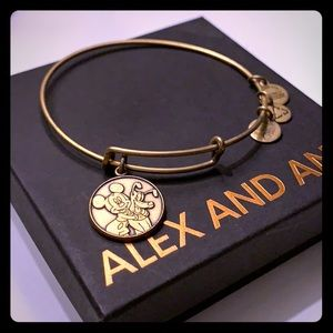 Alex and Ani gold Disney bangle bracelet